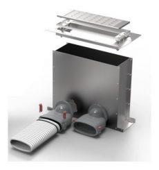 FRS flexibilis csőrendszer-NÁ75, Multi-padlódoboz  FRS-MBK 2-75
