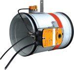 CR120+BFLT230 100 • Motoros, kör keresztmetszetű tűzcsappantyú, 230V, 120 perc