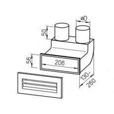 FRS flexibilis csőrendszer NÁ75, 90°-os könyök + rács FRS-WBS 2-75