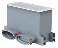 FRS flexibilis csőrendszer -ovál, Fali/padló osztódoboz  FRS-WBK 2-51