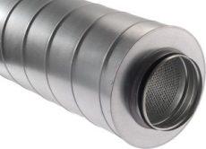 Kör keresztmetszetű hangcsillapító NA160  600mm