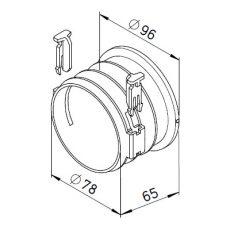 FRS flexibilis csőrendszer-NÁ75, csatlakozócsonk  FRS-ES 75