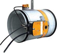 CR60+BFLT230 125• Motoros, kör keresztmetszetű tűzcsappantyú, 230V, 90 perc