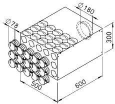 FRS flexibilis csőrendszer-NÁ75, Elosztódoboz  FRS-VK 15-75/180