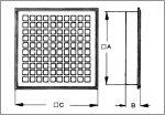 Maico MLG 20 Belső rács szellőztetéshez és elszíváshoz, acéllemez  Termékszám: 0151.0061  UTOLSÓ 3 DB AKCIÓ