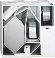 Helios KWL EC 500 W ET L Enthalpia hőcserélős központi szellőző, baloldali