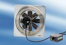 Maico DZQ 25/2 B Ex e Axiál fali ventilátor négyszögletes fali lemezzel, DN 250, háromfázisú váltóáram, robbanásbiztos  Termékszám: 0083.0173