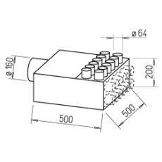 FRS flexibilis csőrendszer-NÁ63, Elosztódoboz  FRS-VK 12-63/160