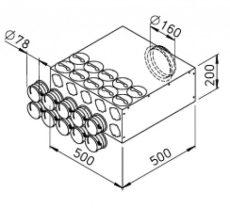 FRS flexibilis csőrendszer-NÁ75, Elosztódoboz  FRS-VK 10-75/160