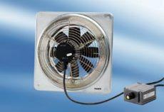 Maico DZQ 35/6 B Ex e Axiál fali ventilátor négyszögletes fali lemezzel, DN 350, háromfázisú váltóáram, robbanásbiztos  Termékszám: 0083.0177
